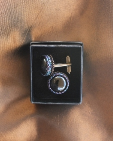 Black Obsidian Cufflinks 2