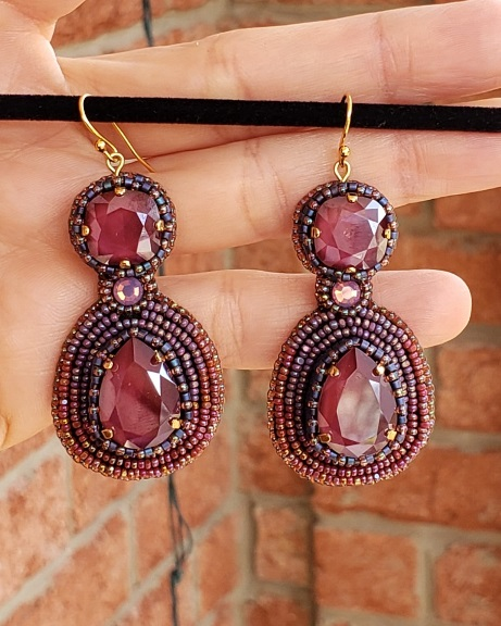 Swarovski Pink Velvet Luster Crystal Earrings