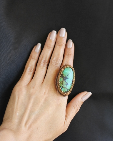 Turquoise Cabochon Ring 3